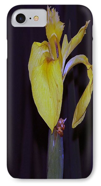 091514 Digital Dry Brush Swamp Lily IPhone Case by Garland Oldham