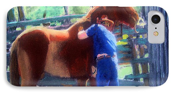 092814 Louisiana Cow Boy IPhone Case by Garland Oldham