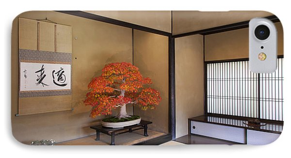 IPhone Case featuring the photograph  Alcove With A Bonsai by Tad Kanazaki