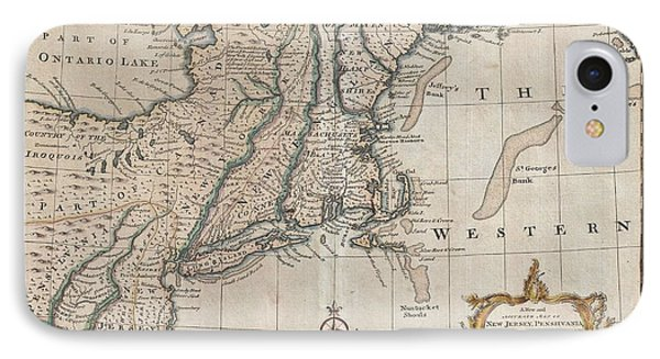 1747 New Jersey Map IPhone Case by Dan Sproul