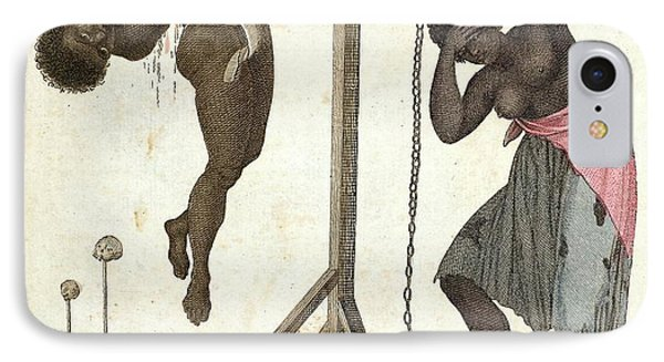 1810 Punishment Of Slaves Engraving IPhone Case by Paul D Stewart