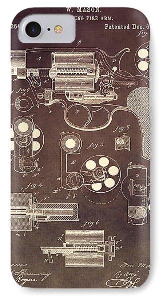 1881 Colt Revolver Patent IPhone Case