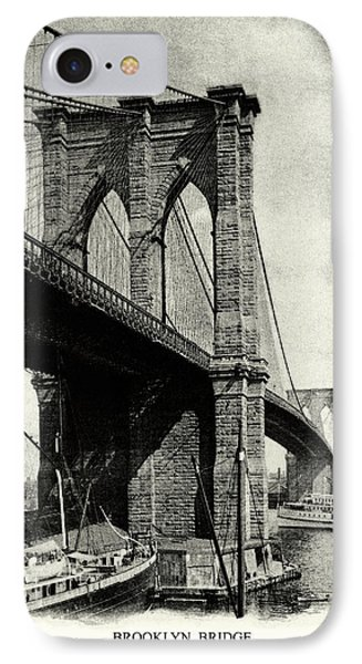 1900 Brooklyn Bridge  IPhone Case by Historic Image