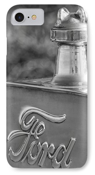 1911 Ford Model T Torpedo 4 Cylinder 25 Hp Hood Ornament  Emblem Phone Case by Jill Reger