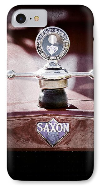 1915 Saxon Roadster Hood Ornament IPhone Case by Jill Reger