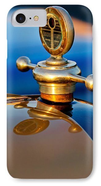 1922 Studebaker Touring Hood Ornament 3 IPhone Case by Jill Reger