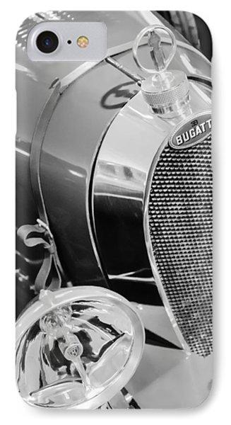 1925 Bugatti Type 35 Grand Prix Grille Emblem - Hood Ornament IPhone Case by Jill Reger