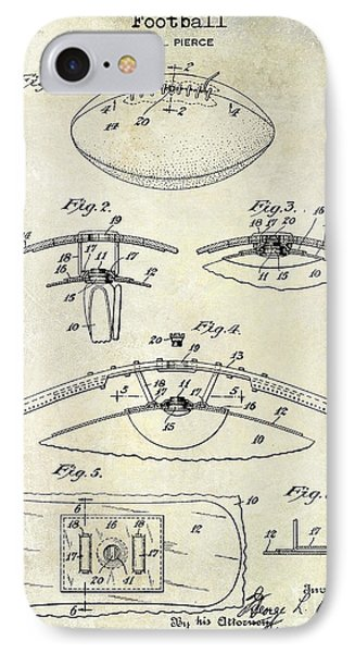 1927 Football Patent Drawing  IPhone Case by Jon Neidert