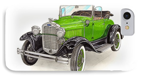 1931 Ford Model A Roadster IPhone Case by Jack Pumphrey