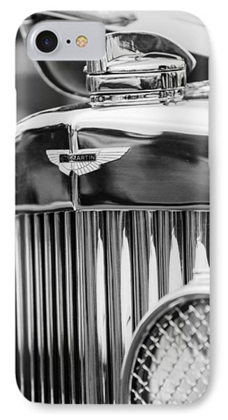 1934 Aston Martin Mark II Short Chassis 2-4 Seater Grille Emblem Phone Case by Jill Reger