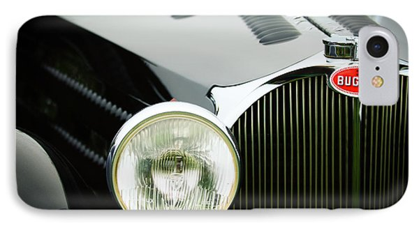 1936 Bugatti Type 57s Corsica Tourer Grille Emblem IPhone Case by Jill Reger