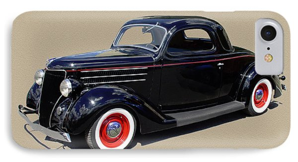 1936 Ford 3 Window Coupe Phone Case by Jack Pumphrey