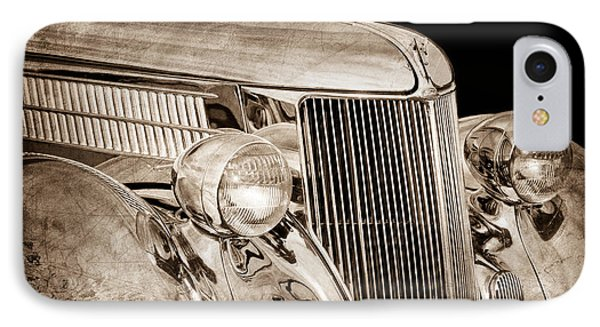 1936 Ford - Stainless Steel Body Phone Case by Jill Reger