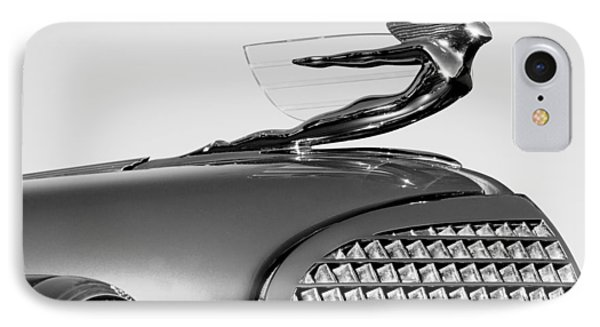 1937 Cadillac V8 Hood Ornament Phone Case by Jill Reger