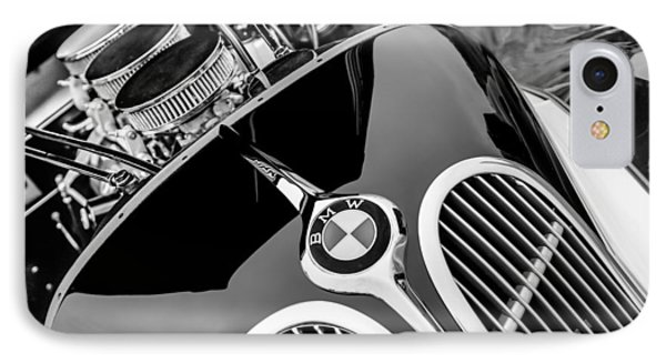 1938 Bmw 327-8 Cabriolet Grille Emblem - Engine IPhone Case by Jill Reger