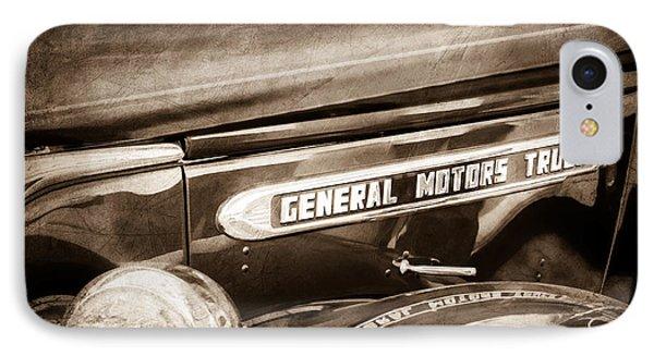 1940 Gmc General Motors Truck Emblem IPhone Case by Jill Reger