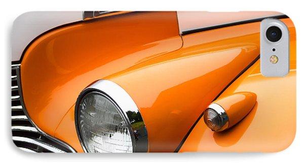 1940 Orange And White Chevrolet Sedan IPhone Case by Carol Leigh
