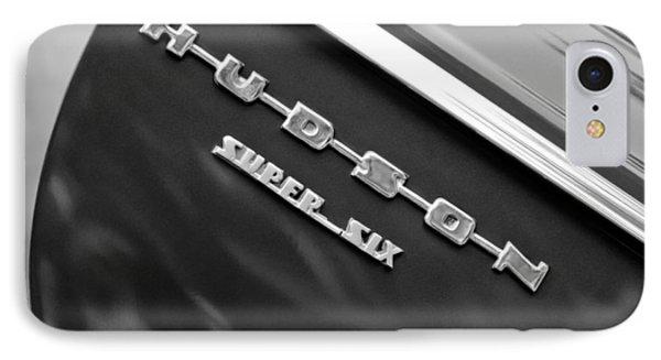 1946 Hudson Big Boy Super Six Pickup Truck Emblem Phone Case by Jill Reger