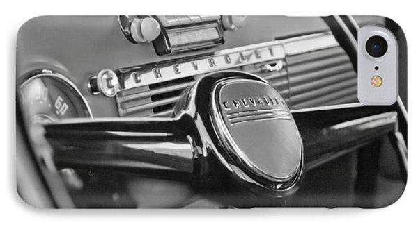 1950 Chevrolet 3100 Pickup Truck Steering Wheel Phone Case by Jill Reger
