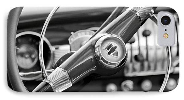 1951 Chevrolet Convertible Steering Wheel Phone Case by Jill Reger