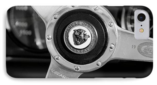 1951 Jaguar Steering Wheel Emblem Phone Case by Jill Reger