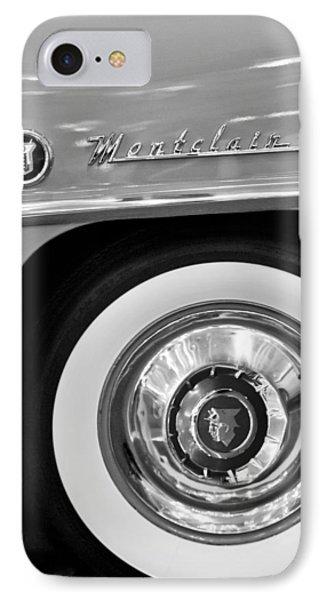 1951 Mercury Montclair Convertible Wheel Emblem Phone Case by Jill Reger