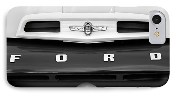 1952 Ford F-6 Pickup Truck Grille Emblem IPhone Case by Jill Reger
