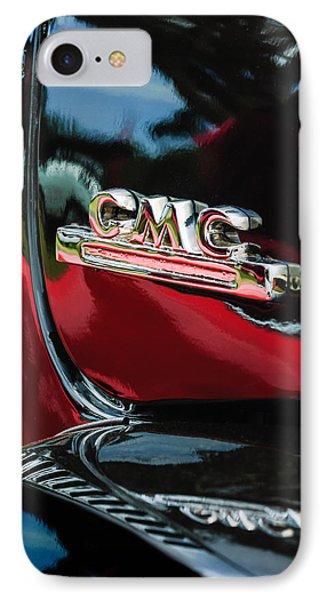 1952 Gmc Suburban Emblem IPhone Case by Jill Reger