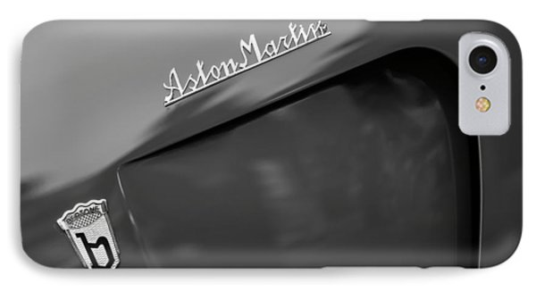 1953 Aston Martin Db2-4 Bertone Roadster Emblems IPhone Case by Jill Reger