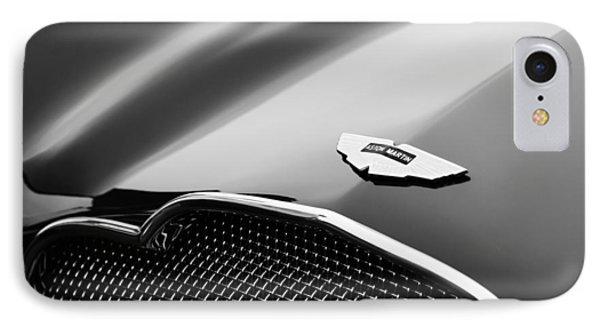 1953 Aston Martin Db2-4 Bertone Roadster Hood Emblem IPhone Case by Jill Reger