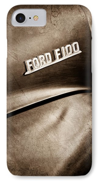 1953 Ford F-100 Pickup Truck Emblem IPhone Case by Jill Reger