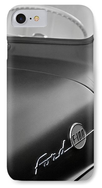 1953 Ford F-100 Pickup Truck Steering Wheel And Emblem Phone Case by Jill Reger