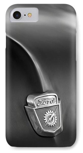1953 Ford F100 Pickup Truck Hood Emblem Phone Case by Jill Reger