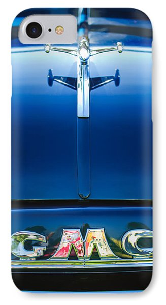 1954 Gmc Pickup Truck Hood Ornament - Emblem IPhone Case by Jill Reger