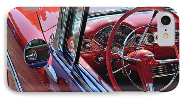 1955 Chevrolet Belair Steering Wheel Phone Case by Jill Reger