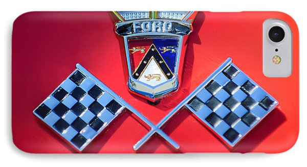 1955 Ford Thunderbird Emblem Phone Case by Jill Reger