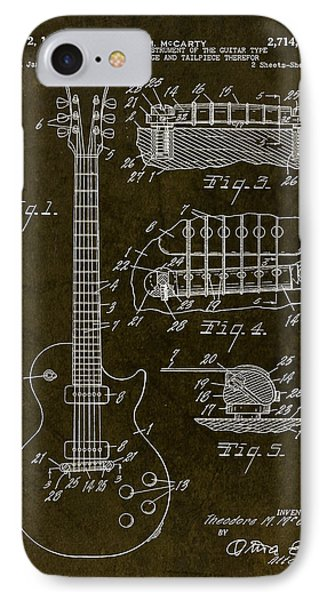 1955 Gibson Les Paul Patent Drawing IPhone Case