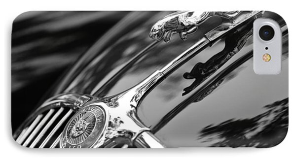 1955 Jaguar Xk 150 Hood Ornament IPhone Case by Jill Reger
