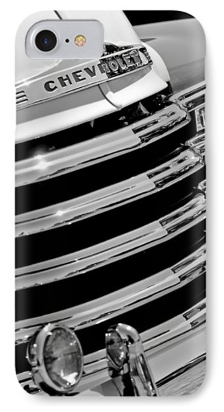 1956 Chevrolet 3100 Pickup Truck Grille Emblem Phone Case by Jill Reger