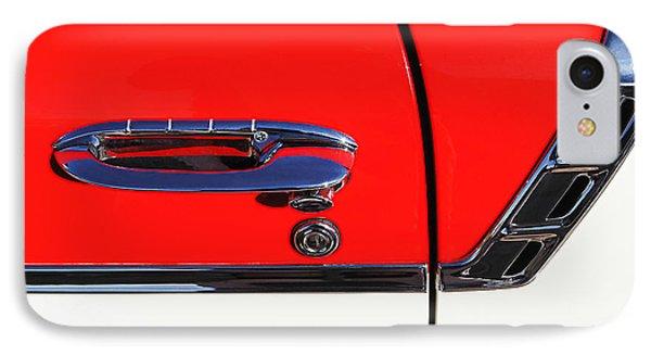1956 Chevrolet Belair Convertible Custom V8 Door Handle Phone Case by Jill Reger