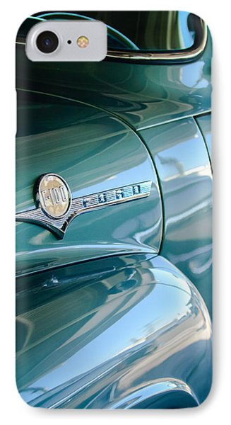 1956 Ford F-100 Truck Emblem IPhone Case by Jill Reger
