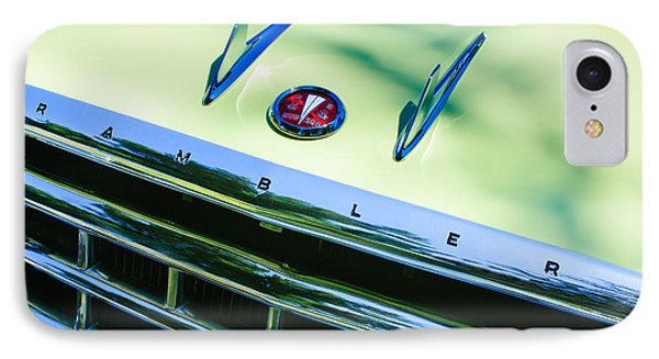 1956 Hudson Rambler Station Wagon Grille Emblem - Hood Ornament Phone Case by Jill Reger