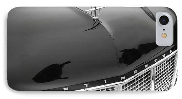 1956 Lincoln Continental Mark II Hess And Eisenhardt Convertible Grille Emblem - Hood Ornament IPhone Case by Jill Reger