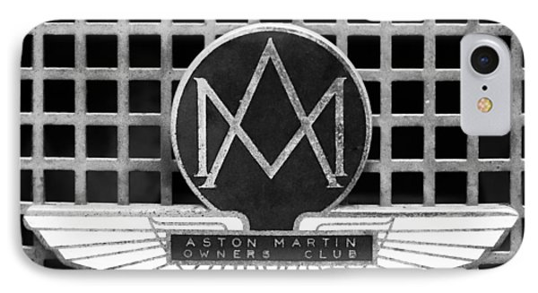1957 Aston Martin Owner's Club Emblem IPhone Case by Jill Reger