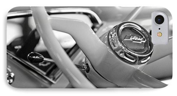 1957 Chevrolet Cameo Pickup Truck Steering Wheel Emblem Phone Case by Jill Reger