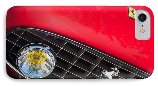 1957 Ferrari 410 Superamerica Series II Grille Emblem Phone Case by Jill Reger