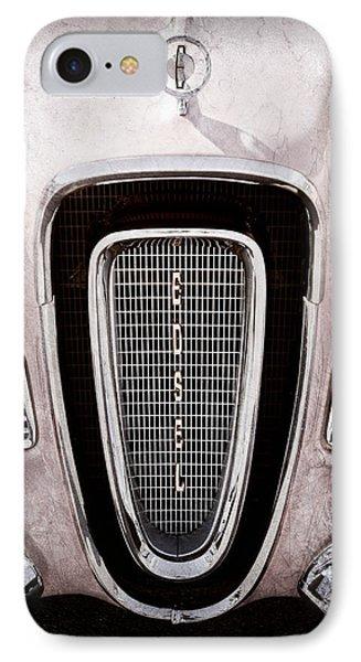 1958 Edsel Pacer Grille Emblem - Hood Ornament IPhone Case by Jill Reger