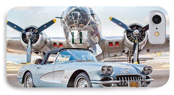 1960 Chevrolet Corvette Phone Case by Jill Reger