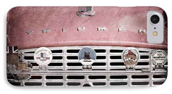 1960 Triumph Tr3 Grille Emblems Phone Case by Jill Reger