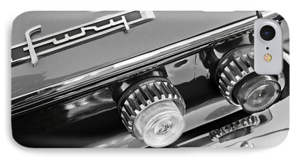 1962 Plymouth Fury Taillights And Emblem IPhone Case by Jill Reger